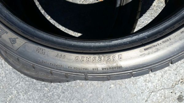 265/35/20 DUNLOP USED TIRES high quality tires