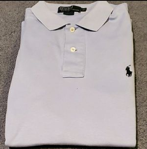 Ralph Lauren Solid Blue Polo Shirt for Sale in Middletown, MD