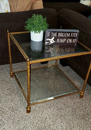 Gold Metal/Glass Accent End Table for Sale in Goodyear, AZ
