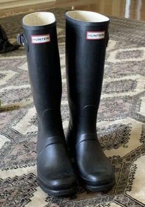 Womens HUNTER Original Tour Navy Matte Rain Boots US Size 7 for Sale in Casselberry, FL