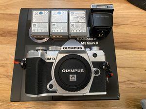 Olympus O-MD E-M5 Mark III silver body for Sale in Los Angeles, CA