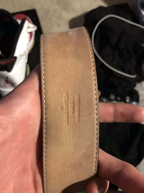 Louis Vuitton Belt Size 30-34