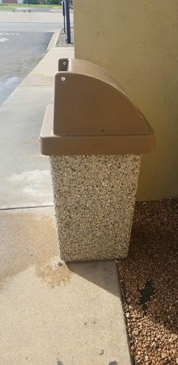 Commercial concrete trashcans for Sale in San Angelo,  TX