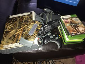 Xbox 360, two hard drives, 12 games, one controller, batteries rechargeable thing for Sale in Baltimore, MD