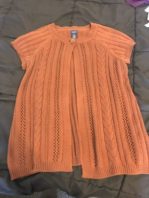 Ladies pm rust brown shrug sweater Izod open front 1 button for Sale in Taylors, SC