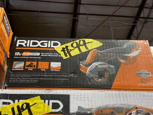 RIDGID 18-Volt SubCompact Lithium-Ion Cordless Brushless 3 in. Multi-Material Saw (Tool Only) with (3) Cutting Wheels for Sale in Phoenix, AZ