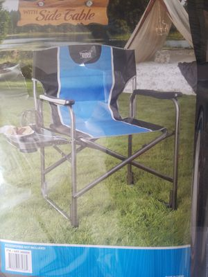 Blue and Black Directors Chair w/Side Table for Sale in Fairfax, VA