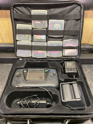Game gear with 6 games,power , bag , game genie for Sale in Plainfield, IL