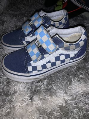 Low top - Velcro vans (kids 11.5) for Sale in San Jose, CA