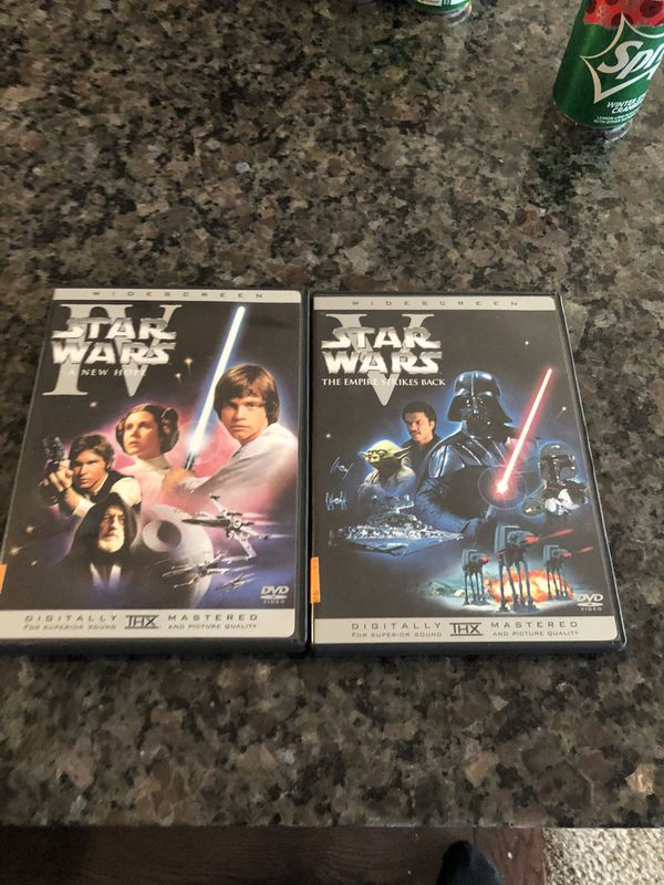2 Star Wars dvds in mint condition