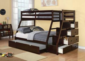 Full Twin Bunk Bed with Storage and trundle for Sale in Hialeah, FL