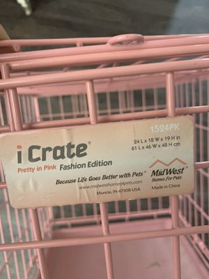 """Pretty in Pink Midwest Dog Crate 24""""x 18"""" x 19"""" for Sale in Bexley, OH"""