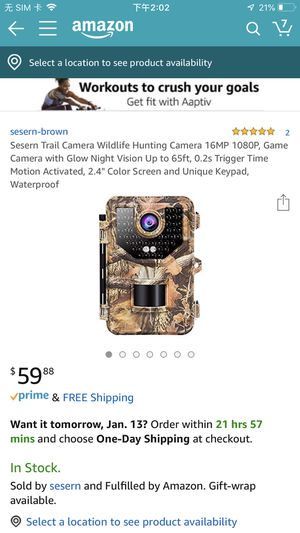 Brand new Sesern Trail Camera Wildlife Hunting Camera 16MP 1080P for Sale in Jacksonville, FL
