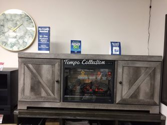 Electric Fireplace TV Stand, Grey, SKU# ASHW440-68/W100-101TC for Sale in Santa Fe Springs,  CA