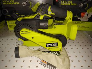 RYOBI 18-Volt ONE+ Lithium-Ion Cordless Brushless 3 in. x 18 in. Belt Sander for Sale in Temple, GA