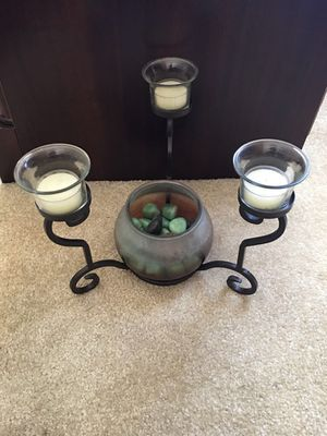 Table decor metal candle holder and tea lights. Make an offer. for Sale in Elmwood Park, IL