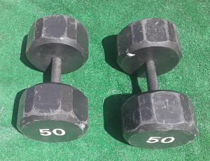 2x50lbs Hexagon Dumbell Weights for Sale in Hollywood, FL
