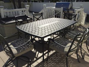 Outdoor patio furniture cast aluminum dinning set. NEW IN BOXES! Warehouse sale. for Sale in Toms River, NJ
