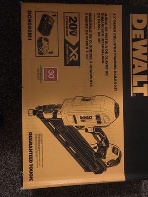 Dewalt 20 Volt XR Brushless framing gun kit for Sale in North Richland Hills, TX