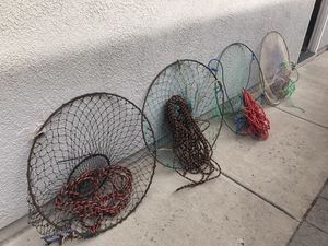 4 crab nets / crab traps for 60 dollars for Sale in Elk Grove, CA