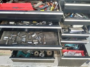 TOOL BOX 14 DRAWER BY WATERLOO FULL OF ASSORTED TOOLS SNAP ON AND MORE. for Sale in San Antonio, TX