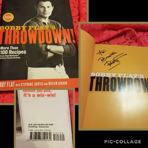 Signed Bobby Flay Throwdown book for Sale in Garden Grove, CA