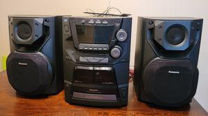 Panasonic 5CD/Tape/Radio Stereo System for Sale in San Diego, CA