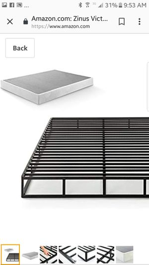 Full size Zinus Victor 7.5 Inch Quick Lock Smart Box Spring / Mattress Foundation for Sale in Columbus, OH