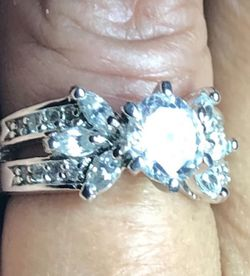 18K Plated CZ Wedding Ring for Sale in Flowery Branch,  GA