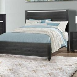 🎵Gaston Black King Panel Bed🎵⏰39 DOWN⏰ for Sale in Houston,  TX