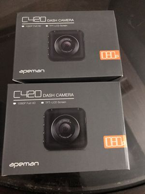 Dash Camera for Cars Recorder Super Night Vision, 170° Wide Angle, Motion Detection, Parking Monitoring, G-Sensor, Loop Recording (two cameras) for Sale in Laveen Village, AZ