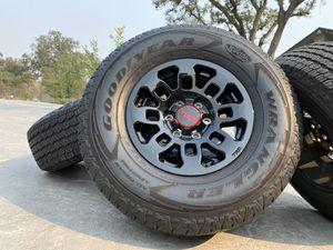 "16"" Toyota Tacoma TRD PRO 4x4 factory off road wheels black rims OEM all terrain tires 4Runner 6 lug for Sale in Roseville, CA"