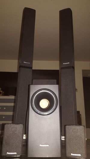 Panasonic Tower speakers with surround for Sale in Turlock, CA