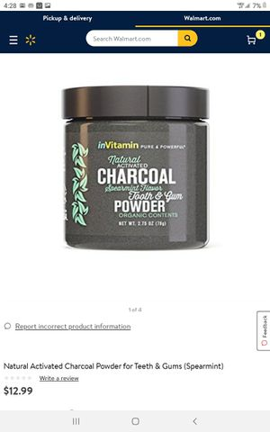 Charcoal tooth and gum powder for Sale in Bedford Heights, OH