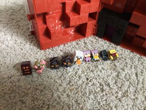 Minecraft Mini Figure Nether Collector Case plus 9 Figures for Sale in Ontario, CA