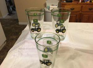 NEW 3 John Deere 16 Oz Tractor glasses for Sale in Cerritos, CA
