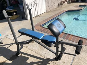 Bench press with weights and other items for Sale in Whittier, CA