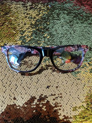 Claire's Floral Print Clear Frame Glasses for Sale in Manassas, VA