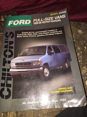 Chiltons Ford Repair Manual 89-96 for Sale in Detroit, MI