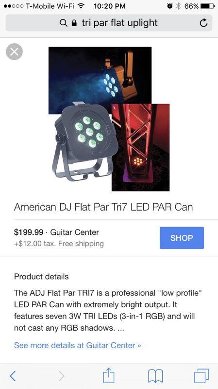 Par flat uplights - DJ