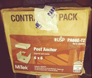 Mitek post anchors 6×6 for Sale in Durham, NC