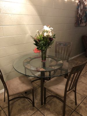 GLASS KITCHEN TABLE for Sale in Scottsdale, AZ