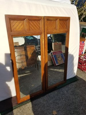 Solid Wood Wall mirrors $15 ea. 20W x 49h Pick up in Parkrose for Sale in Portland, OR