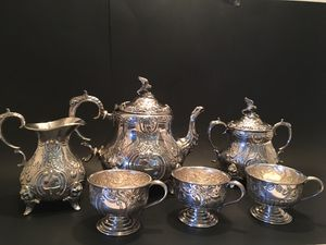 VTG William Adams Victorian American Eagle Silver Tea Set 6 Piece for Sale in Raleigh, NC
