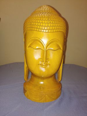Indian Buddha Statue (Wood) for Sale in Kissimmee, FL