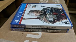 Witcher 3 and kingdom hearts for Sale in Sandston, VA