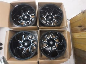 Wheels 20x12 new in box universal 5lubs with 2 bolt pattern for Sale in Miami, FL