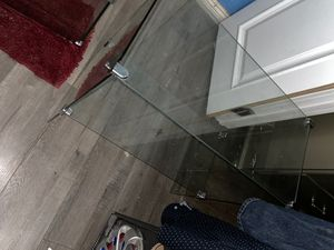 Clear Glass small table $50 for Sale in Highland, CA