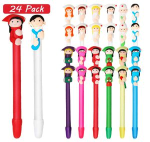 24 Pieces of Cartoon Nurse Pen 12 Designs, Cute Doctor and Nurses Ball Point Pens for Sale in West Covina, CA
