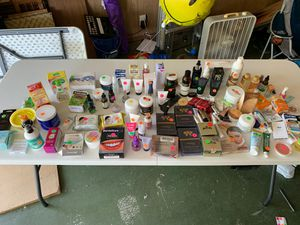 Beauty Products Makeup Hair skin Teeth Products After Garage Sale for Sale in DW GDNS, TX